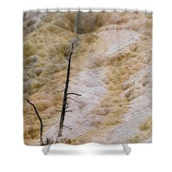 Mammoth Hot Spring Terraces Shower Curtain