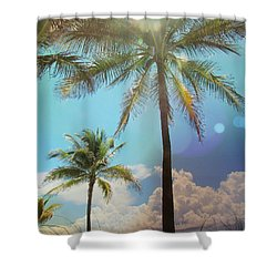 Shower Curtain featuring the photograph Miami Palm Trees,  by France Laliberte