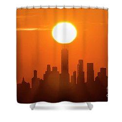 New York City Sunrise Shower Curtain