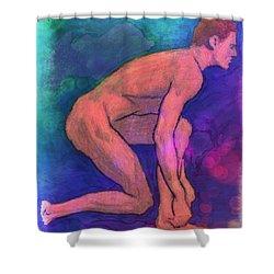Nude Man Shower Curtain