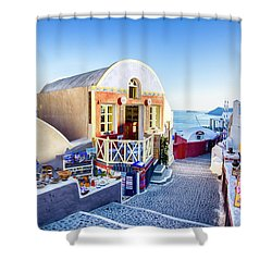 Oia, Santorini - Greece Shower Curtain