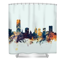 Oklahoma City Skyline Shower Curtain