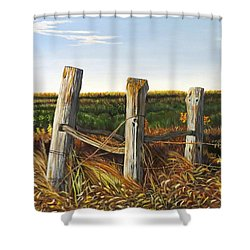 3 Old Posts Shower Curtain