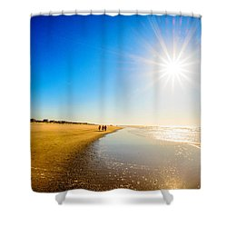 3 On The Beach  Shower Curtain