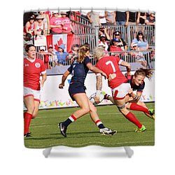 Pam Am Games Womens' 7's Shower Curtain