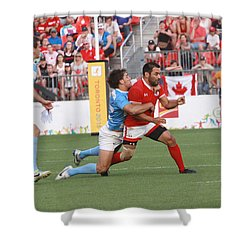 Pamam Games Men's Rugby 7's Shower Curtain