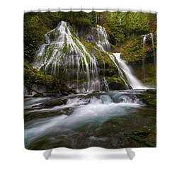 Panther Creek Falls Shower Curtain by David Gn