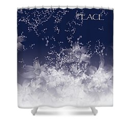 Shower Curtain featuring the digital art Peace by Trilby Cole