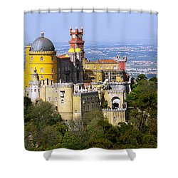 Pena Palace Shower Curtain by Carlos Caetano