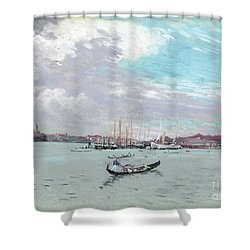 Shower Curtain featuring the drawing Pennell Venice, C1905 by Granger