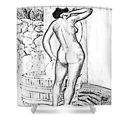 Pinup Shower Curtain