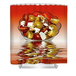 Plum Cherry Tomatoes Shower Curtain by David French