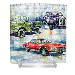 3 Powers Shower Curtain