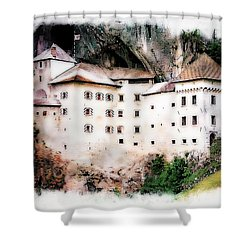 Predjama Castle, Predjama Slovenia Shower Curtain
