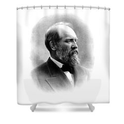 President James Garfield Shower Curtain by War Is Hell Store