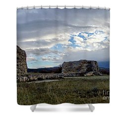 Roman Ruins Shower Curtain by Judy Kirouac