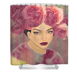 Rose Shower Curtain by Lisa Noneman