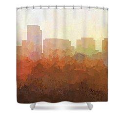 Shower Curtain featuring the digital art Rosslyn Virginia Skyline by Marlene Watson