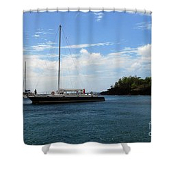 Shower Curtain featuring the photograph Sail Boat by Gary Wonning