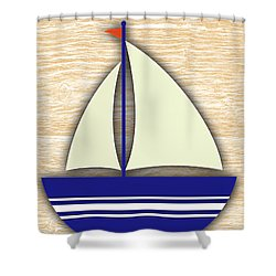 Sailing Collection Shower Curtain by Marvin Blaine