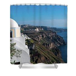 Santorini - Greece Shower Curtain