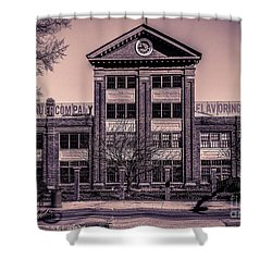Shower Curtain featuring the photograph Sauer Building by Melissa Messick