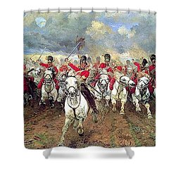 Shower Curtain featuring the painting Scotland Forever by Celestial Images