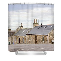 Scottish Bungalows Shower Curtain