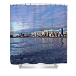 Seattle Skyline Cityscape Shower Curtain