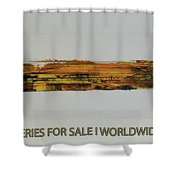 Series Abstract Worlds Only Originals For Sale Worldwide Shipping Shower Curtain by Sir Josef - Social Critic -  Maha Art