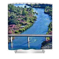 Shasta Dam Spillway Shower Curtain