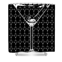 So Many Martinis So Little Time Shower Curtain by Jon Neidert