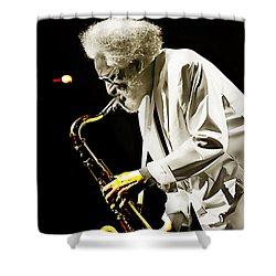 Sonny Rollins Collection Shower Curtain by Marvin Blaine