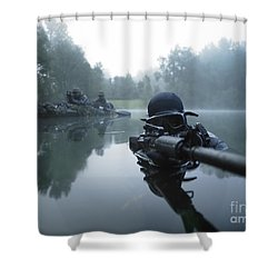 Shower Curtain featuring the photograph Special Operations Forces Combat Diver by Tom Weber