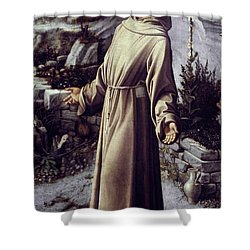 St. Francis Of Assisi Shower Curtain by Granger