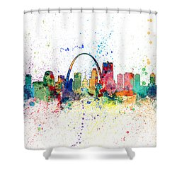 St Louis Missouri Skyline Shower Curtain