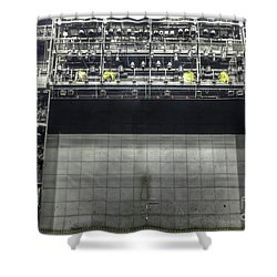 Shower Curtain featuring the photograph Stage In The Abandoned Theatre by Michal Boubin