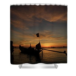 Sunrise On Koh Tao Island In Thailand Shower Curtain by Tamara Sushko