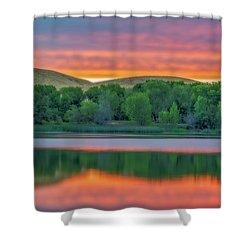Sunrise Reflection Shower Curtain