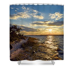 Sunset On The Cape Fear River Shower Curtain