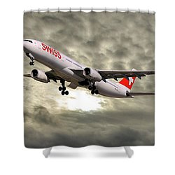 Swiss Airbus A330-343 Shower Curtain