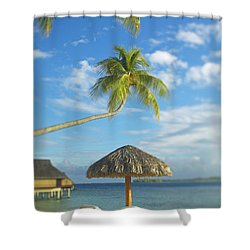 Tahiti, Bora Bora Shower Curtain by Kyle Rothenborg - Printscapes
