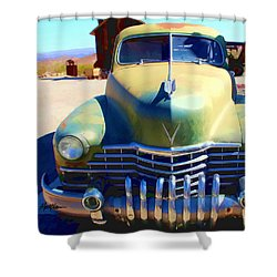 Techatticup Mine Ghost Town Nv Shower Curtain by Marti Green