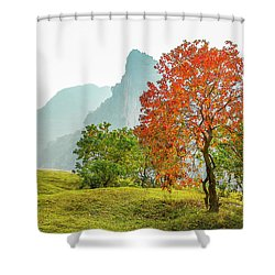 The Colorful Autumn Scenery Shower Curtain