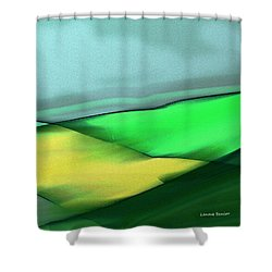 The Fields Shower Curtain by Lenore Senior