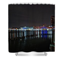Shower Curtain featuring the photograph The Harbor View by Mark Dodd