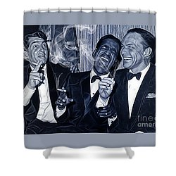 The Rat Pack Collection Shower Curtain