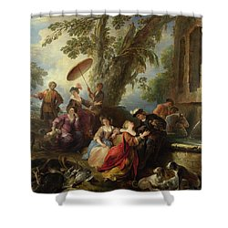 The Return From The Hunt Shower Curtain