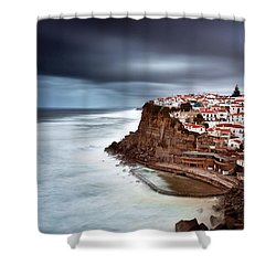 Shower Curtain featuring the photograph Upcoming Storm by Jorge Maia