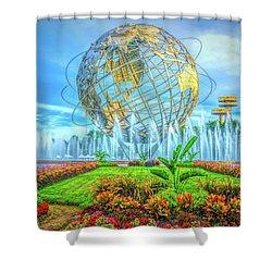 The Unisphere Shower Curtain